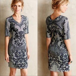 Yoana baraschi blue lace stretch dress